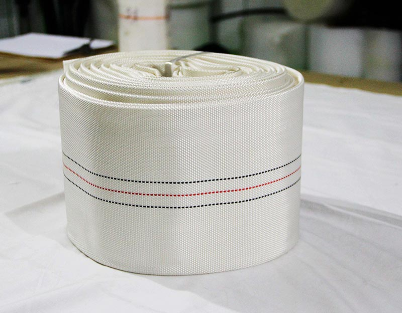 White Fire Fighting Rubber Hose
